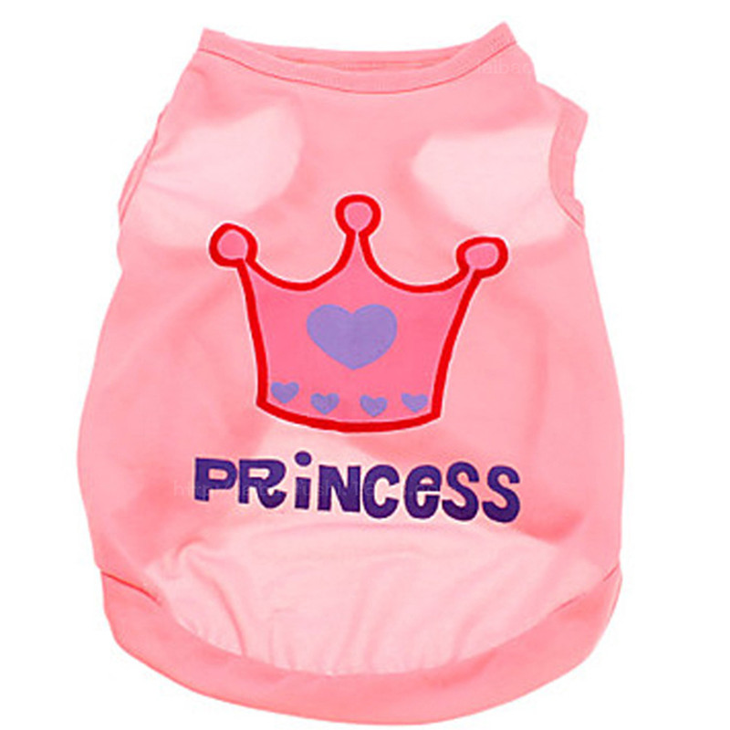 Princess Crown Pet Dog Clothes T-Shirt Dog Vest For Small Dogs Coat Jacket Puppy Sweatshirt Costume Chihuahua Clothing Apparel
