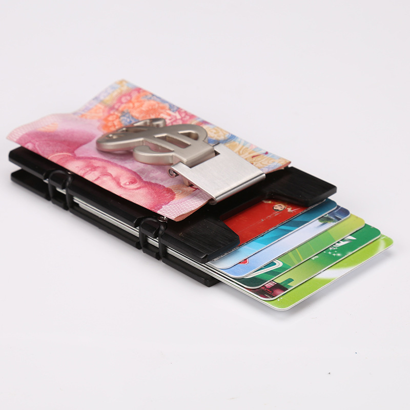 Metal Card Holder Wallet Credit Card Holder Automatic Card Sets Business Aluminum Wallet With Money Clamp