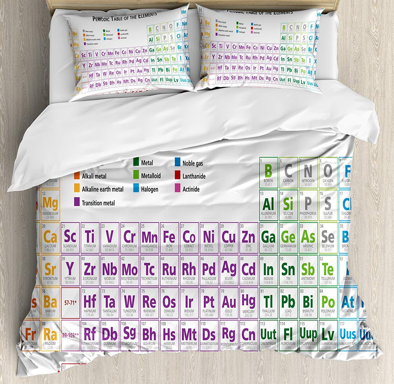 Science housse de couette ensemble King Size chimie primaire étudiants Geek Nerd leçons Classes Smart Kids Art imprimer ensemble de literie