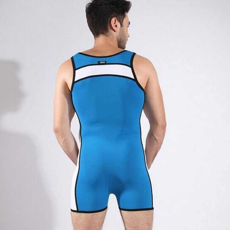 8a4b0a5a65c ... Swimwear One Piece Swimsuit Sexy Men Sport Swimming Suit Wrestling  Lingerie Plus Size Swimwear Beach Surf ...
