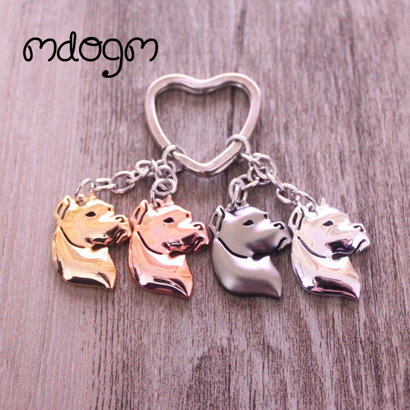 2019 Dogo Argentina Dog Animal Gold Silver Plated Metal Pendant Keychain For Bag Car Women Men Girls Boys Love Jewelry K121
