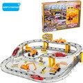 Kids toys para niños de ingeniería camión vehículo set 1: 64 modelo de aleación de coche de carril eléctrico juguetes hot wheels pistas de seguimiento