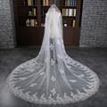 3 Meter White Cathedral Wedding Veils 2017 Long Lace Edge Bridal Veil Sequins Wedding Accessories Bride Mantilla Wedding Veil