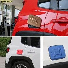 Luhuezu Del Gas Della Lega di Copertura Fule Serbatoio Copertura per Jeep Renegade Accessori 2015 2016 2017