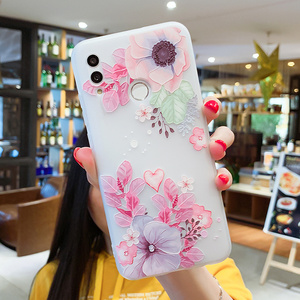 Image 2 - EIRMEON Case For Huawei P Smart 2019 3D Relief Floral Cases For Huawei Mate 10 Mate 20 Pro Honor 10 Lite Frosted TPU Phone Cover