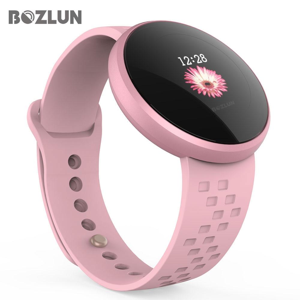 Bozlun модные женские туфли Smart цифровые часы женский период напоминание HeartRate водостойкие Colories шаг красивые наручные часы B36