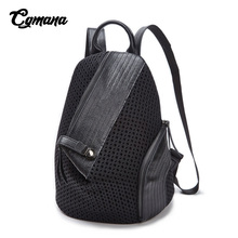 CGMANA Mini Backpacks Women Travel Bags 2018 Backpacks Split Leather School Bags For Teenage Girls Famous Brand Mochila Feminina luxury women backpacks famous brand genuine real leather black backpacks for teenagers girls school bag vintage mochila feminina