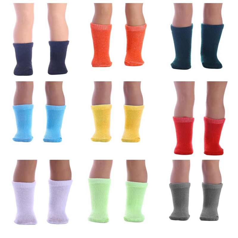 1 Pair!!! Mini Sock Fit 43cm Baby 18 Inch Doll Clothes Accessories For Dolls Baby Best Christmas Gifts