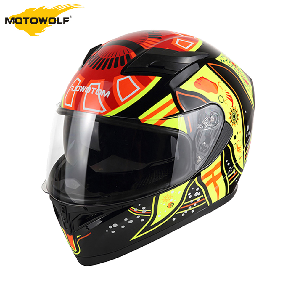 MOTOWALF Motorcycle Helmet Flip Up Helmet Casco Moto Helmet With Inner Sun Visor Double Lens Capacete Racing Motocross Helmets up to date dot approved double lens flip up motorcycle helmet casco racing capacete with inner sun visor matte black
