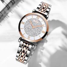 New Luxury Crystal Women Bracelet Watches 2019 Top Brand Fashion Ladies Quartz Wristwatch Full Steel Round Dial Waterproof Watch