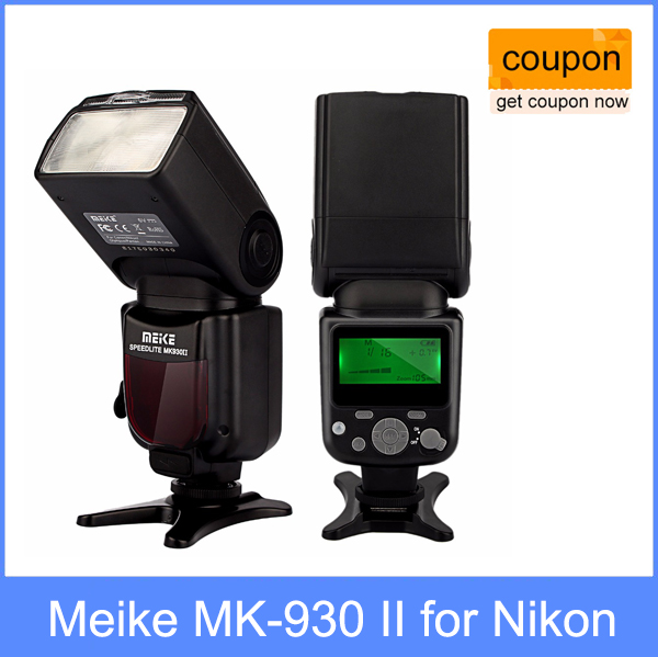 Meike MK-930 II, MK930 Flash Speedlight for Nikon D70 D80 D300 D700 D90 D300s D7000 D3200 D800 D800e as Yongnuo YN-560 II YN560 meike mk d750 battery grip pack for nikon d750 dslr camera replacement mb d16 as en el15 battery