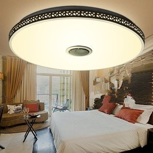 Image 2 - Modern Bluetooth Speaker LED Ceiling Light Remote Control RGB Dimmable Music Lamp Living Room Lighting Fixture Bedroom Smart