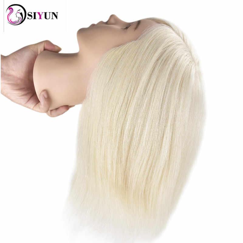 Nieuwe Vrouwelijke 35cm Wit Real Human Hair Salon Kappers Training Praktijk Mannequin Hoofd Pruik Poppen Kapsels Oefenpop