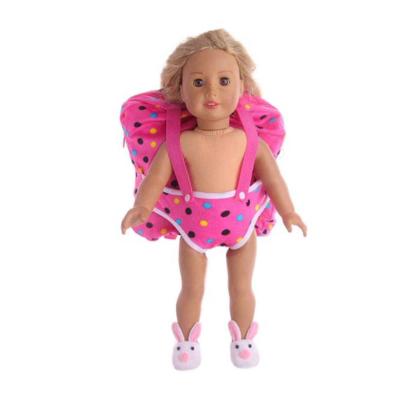PFi-TW711 Children Kids Backpack & Doll Carrier Sleeping Bag For American Girl Dolls 18 Inch Doll Accessories