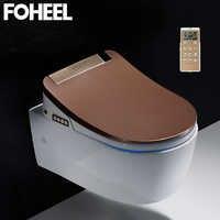 FOHEEL 高品質スマート便座カバー電子ビデクリーンドライシート加熱 wc インテリジェント led ライト便座カバー