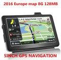 5 дюймов HD Автомобильный gps Навигатор 800 МГц, DDR128M \ 8 ГБ, FM, русский \ Чешский \ Иврит \ Болгарский \ Польский, навител (RU + UKR + BLR + KAZ), GPS Навигатор