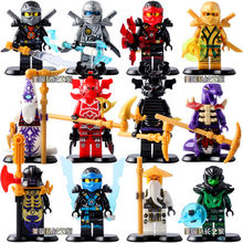 New Golden NinjaGOES Jay Kai Cole Zane WU Building Blocks Model Bricks Toys Children Gifts LELE 79257(China)