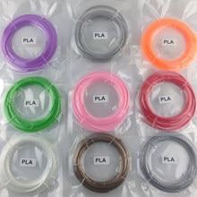 Novo fio de plástico pla 10 metros, 1.75mm, materiais para impressora 3d, fios, caneta 3d, filamento para impressora 3d desenho de desenho