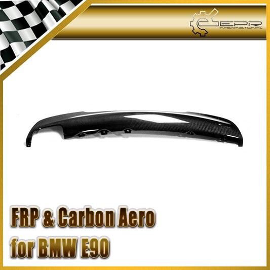 Voiture-style Fiber De Carbone Arrière Lip Brillant Fibre Diffuseur Pour BMW E90 M-Tech (D'échappement Unique) (Option de 325i ou 335i est différence)