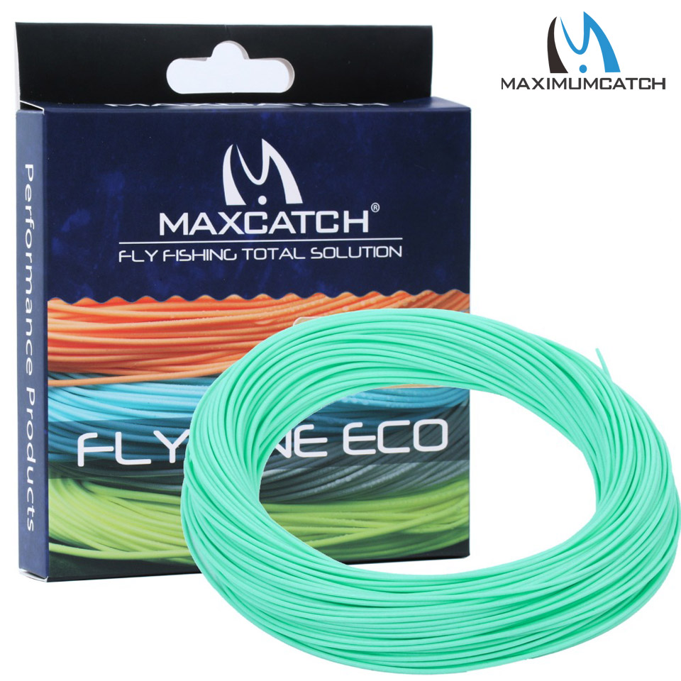 Maximumcatcg Fly Line WF 2/3/4/5/6/7/8F Weight Forward Floating Fly Fishing Line with Line Box maximumcatch 100ft wf4 5 6 7 8f switch fly fishing line weight forward floating fly line with two welded loops fishing line
