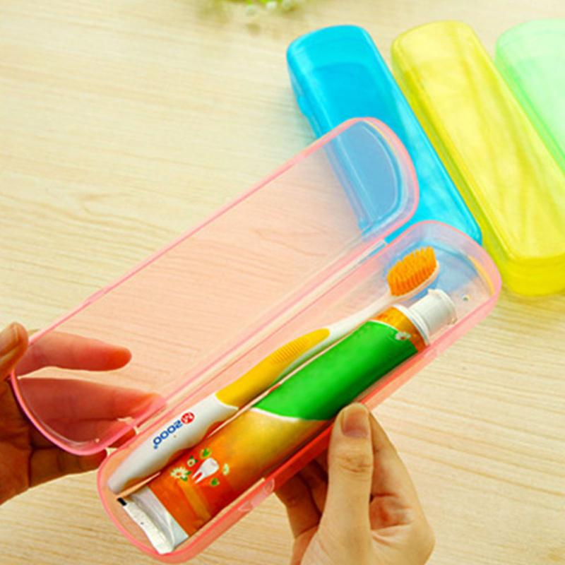Portable Travel Toothbrush Holder Outdoor Hiking Camping Toothpaste Case Toothbrushes and Toothpaste Carry BoxStorage Box image