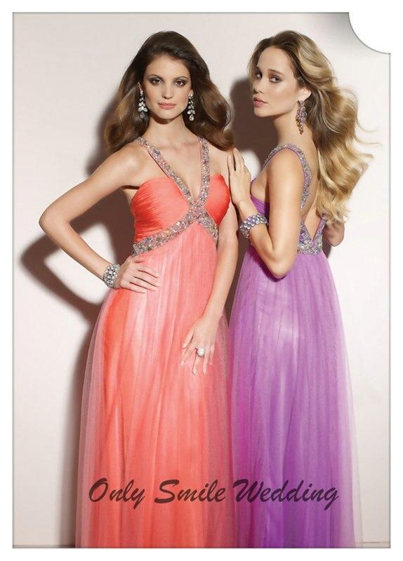 ce9128645 ZJ3087 moldeado Atractivo V cuello de tul de Color Coral Vestido de Noche  Para Las Mujeres Embarazadas vestido longo de renda en Vestidos de noche de  Bodas ...