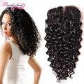 Peruvian Water Wave Closure Wavy Human Hair Closure Piece Peruvian Wet And Wavy Closure Water Wave Lace Closure 4*4 Curly Hair