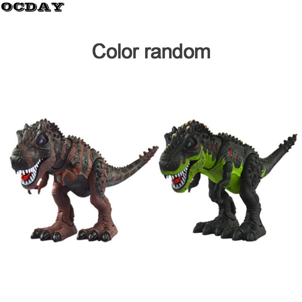 Electric Walking Dinosaur With Light Sound Kids Toy Jurassic Park Real Movement T-Rex Figure Toy Classic Model Toys Xmas Gift