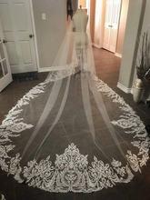 Предназначен Свадебные вуали 2 яруса длиной 3 м * 15 собор верхний