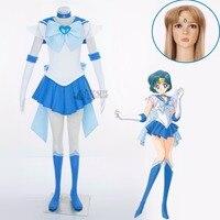Athemis Anime Sailor Moon Mizuno Ami Sailor Mercury Super S Cosplay Costume Custom Made Any Size