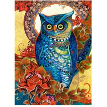 hot deal buy diamond painting owl 5d diy diamond painting crystal animals owl diy 3d diamond painting living room decoration luovizem l256