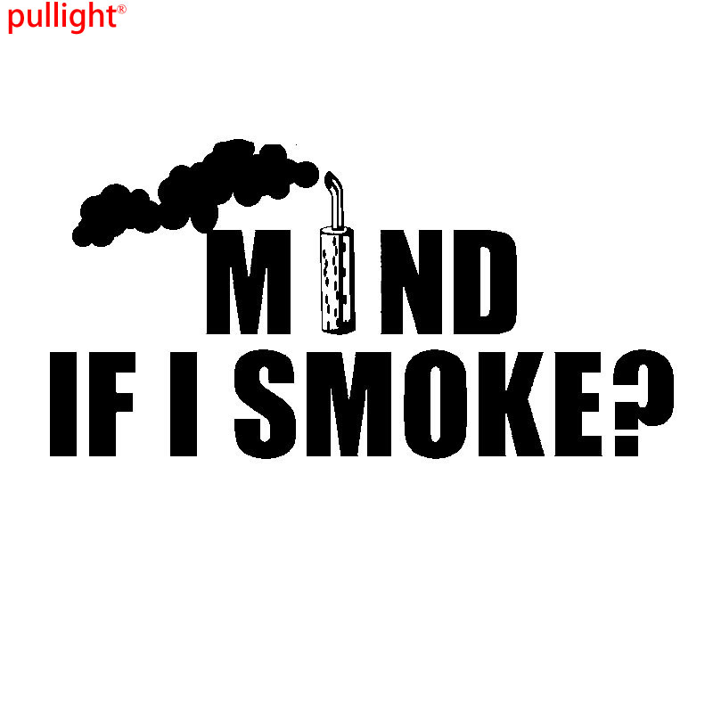Mind If I Smoke Funny Diesel Car Truck Soot Theme Vinyl Decal Sticker in Car Stickers from Automobiles Motorcycles