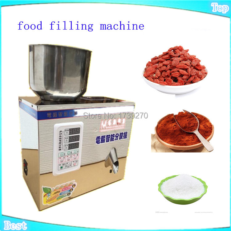 food filling machine oarse, granular sesame seeds, grains, beans,automatic powder filling machine, Medicine filling machine, cursor positioning fully automatic weighing racking packing machine granular powder medicinal filling machine accurate 2 50g