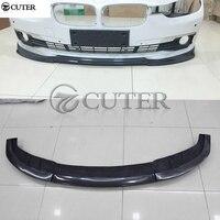 F30 3 series original style Carbon Fiber Car front bumper lip splitter For BMW F30 325i 320i standard bumper 2016