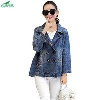 OKXGNZ Large size Top coat 2019 spring women long sleeved loose denim Outerwear fashion autumn leisure jacket coat female QQ817