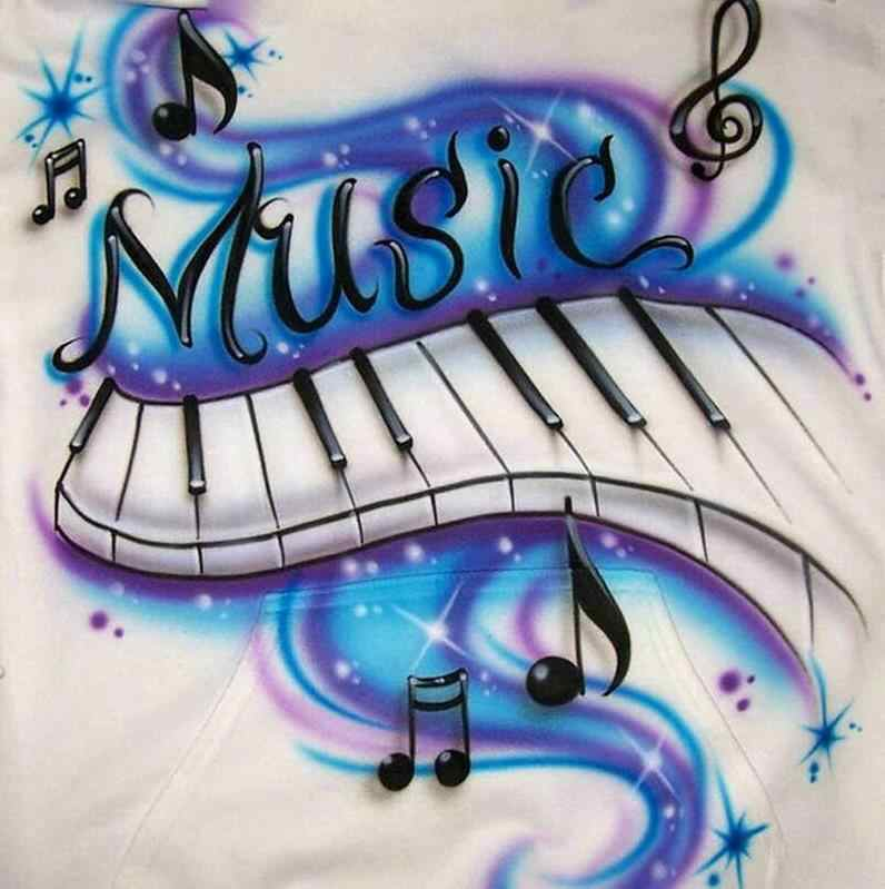 Diamond painting music piano spectrum full square round drill rhinestone mosaic new arrival 3d diy embroidery wall sticker
