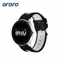 ORDRO moda Bluetooth inteligente de pulsera de Fitness de la presión arterial de Monitor de sueño pulsera para Iphone de Xiao mi paquete de mi banda 2