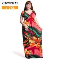 Womens Long Dresses Maxi Dress Flower Print Bohemian Boho Dress Ethnic 2017 Women Summer Beach Dress