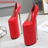 Большие размеры 34–46 Брендовая обувь женщина женские туфли на высоком каблуке 30 см ботинки на каблуках женская обувь пикантная Свадебная об