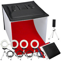 Travor K60 24x24 Inch LED Portable Photo Studio Light Box Foldable Table Top Photography Shooting Tent 3200K 5500K 9000K