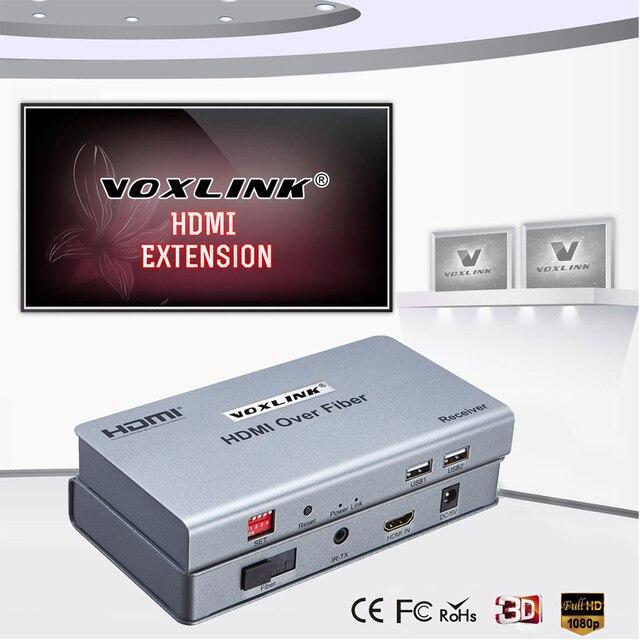 VOXLINK HDMI Extender По Оптоволокну Видео Аудио многоточка-многоточка RX/TX сигнал до 20 КМ HDMI1.3 1080 P Для HDTV PS3 DVD STB