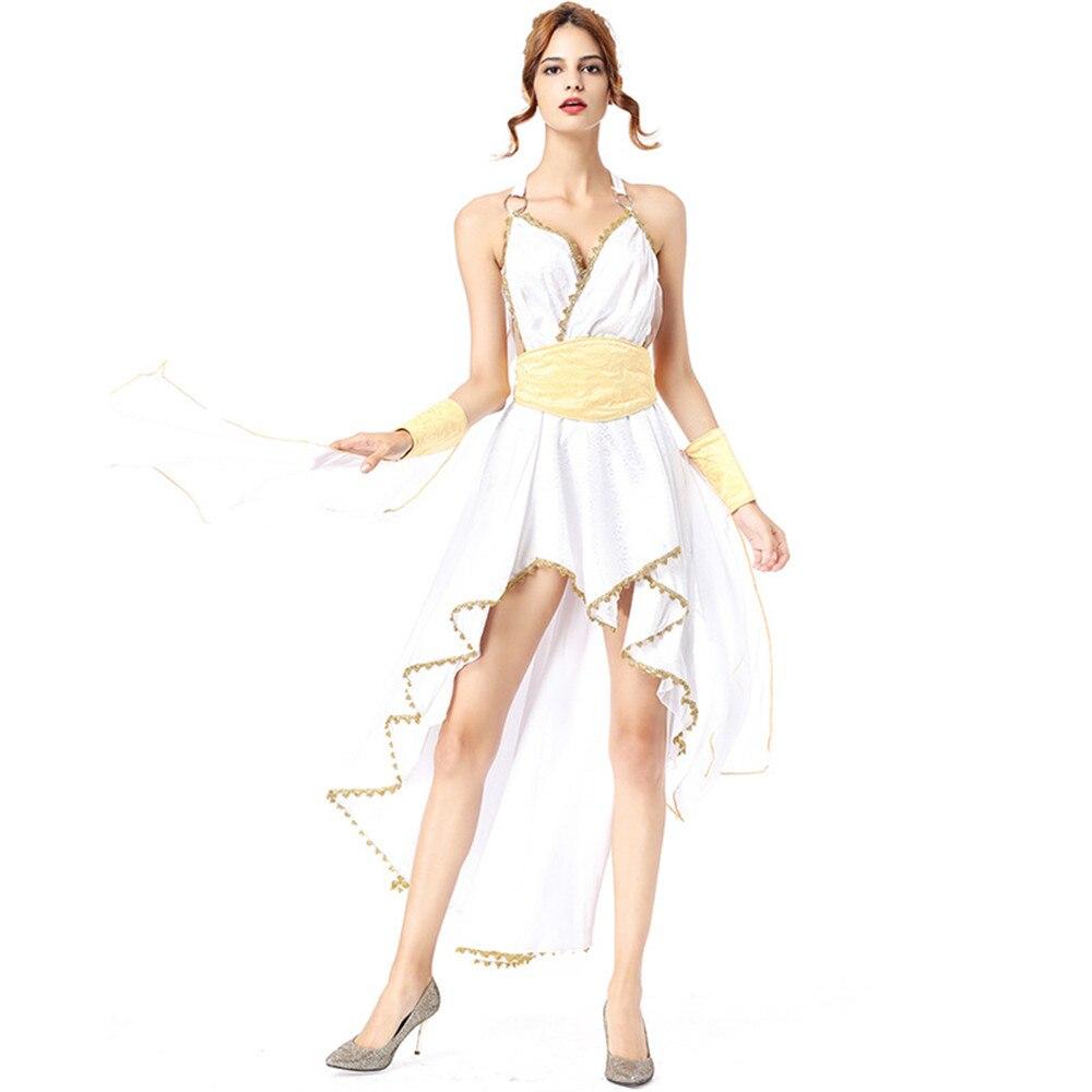 Cosplay sexy déesse grecque sorcière princesse irrégulière blanche fée jupe Halloween carnaval pourim fête robe scène costume - 5