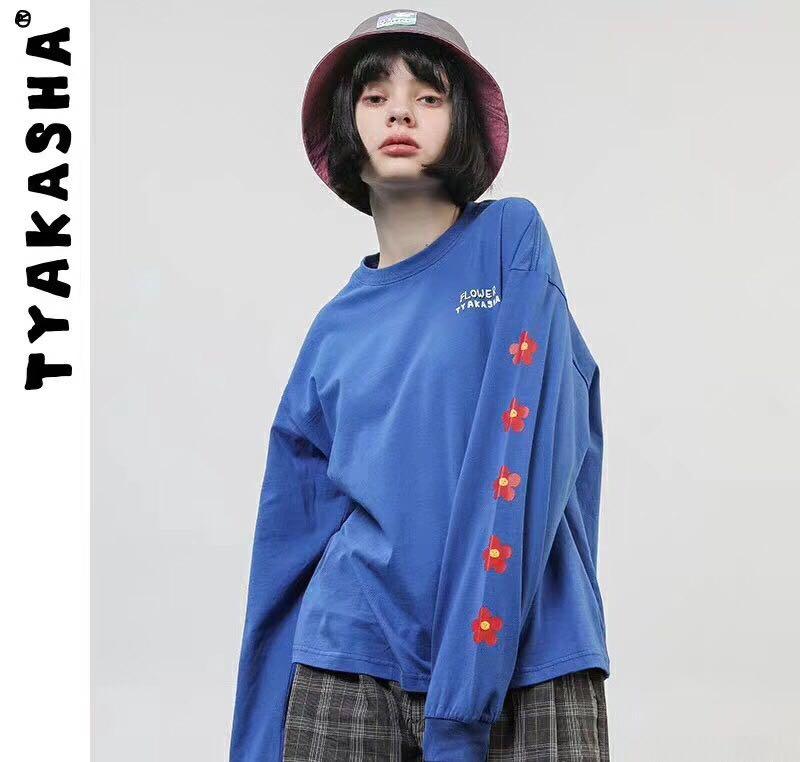 2019 T Shirt femmes à manches longues femmes hauts 2019 printemps automne T-Shirt femmes Style coréen T-Shirt coton nouvelle grande taille T-Shirt