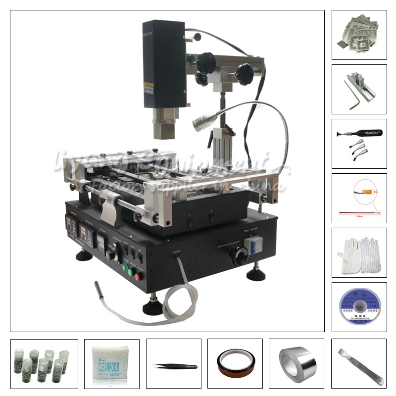 HT R392 BGA reballing station with 810 pcs directly heating stencil kit pack new upgrade 810 model bga stencil bga reballing stencil kit with direct heating reballing station replace 715 pcs