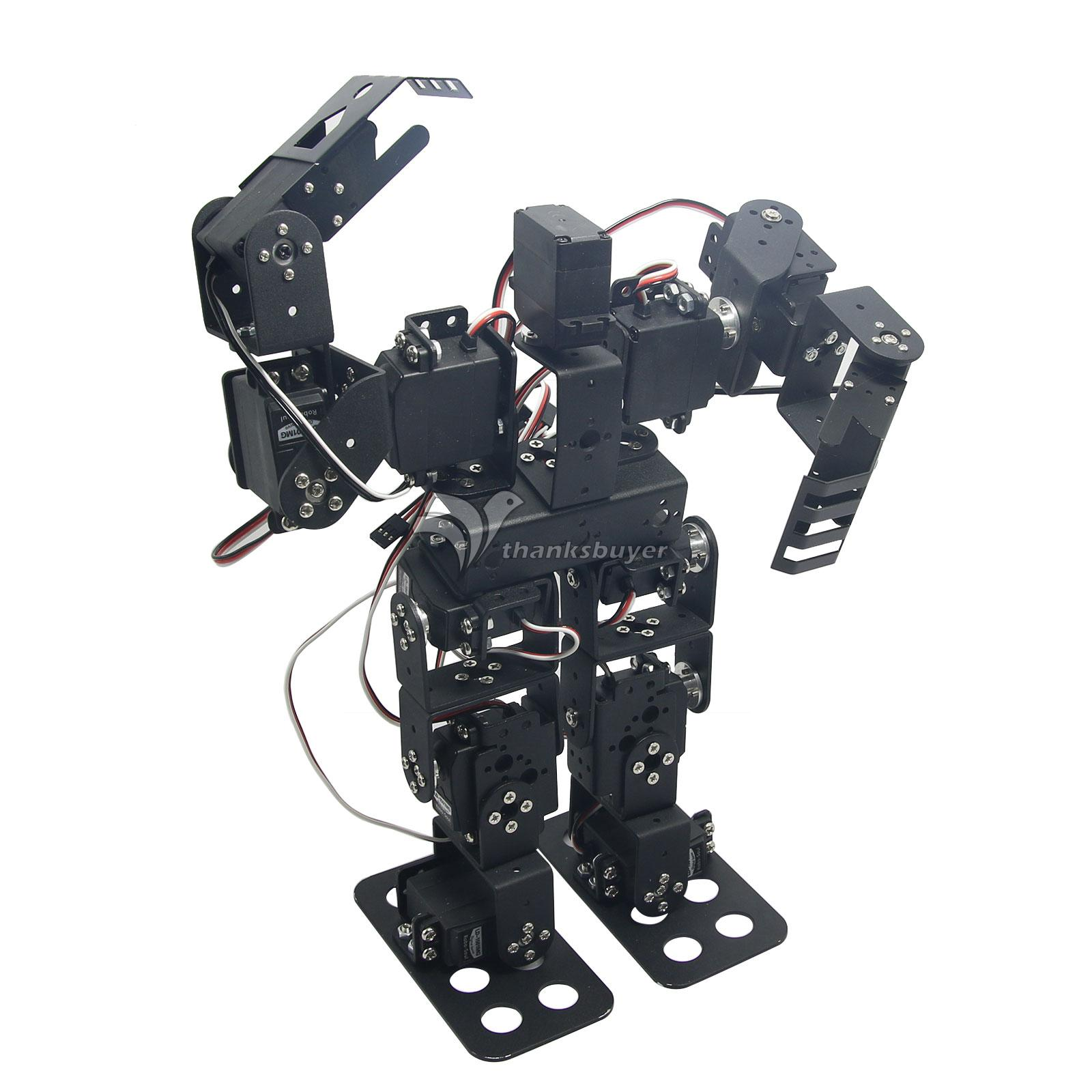 Assembled 13DOF Biped Robotic Educational Robot Servo Bracket Ball Bearing w/LD-1501MG Servo new 17 degrees of freedom humanoid biped robot teaching and research biped robot platform model no electronic control system