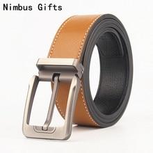 Nimbus Gifts luxury belts Brand Belts Men High Quality Male Genuine Real Leather Strap for Jeans belt erkek buckle 3.8 cm wide
