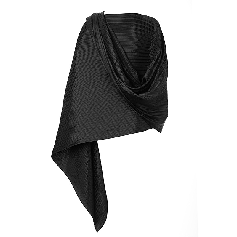 Miyake Fold the scarf female special Clubman sleeve head scarf color in autumn and winter free shipping