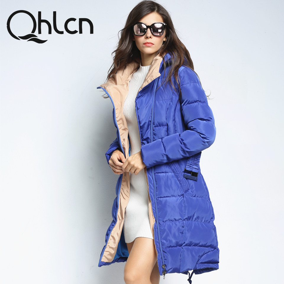 Qhlcn 2018 New Womens Winter Down Jackets And Coats Girls Excessive High quality Heat Feminine Thickening Heat Parka Hood Over Coat