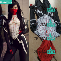 Free Shipping DHL 3D Printing Spider Women Suit Silk Cindy Moon Spider Man Costume 2018 Cosplay Halloween Spidy Bodysuit