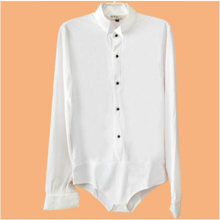 Nouveau style enfant de danse latine costumes spandex manches longues  latine dnace chemise pour les garçons latine concours de danse chemise S-4XL d70771dca38